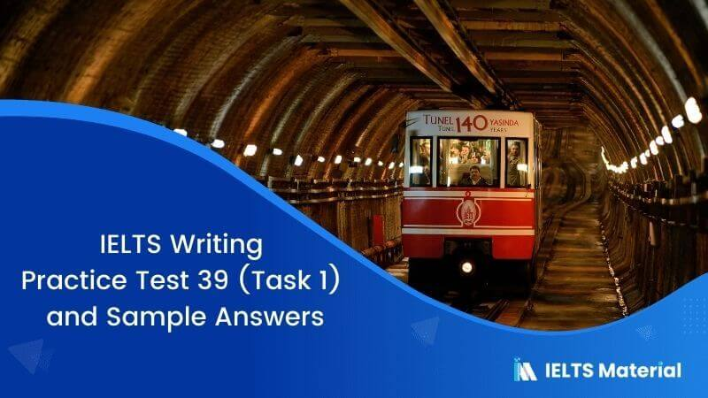 IELTS Writing Practice Test 39 (Task 1) and Sample Answers