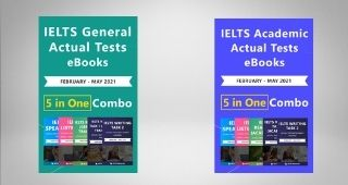 IELTS 5 in 1 Actual Tests eBook Combo