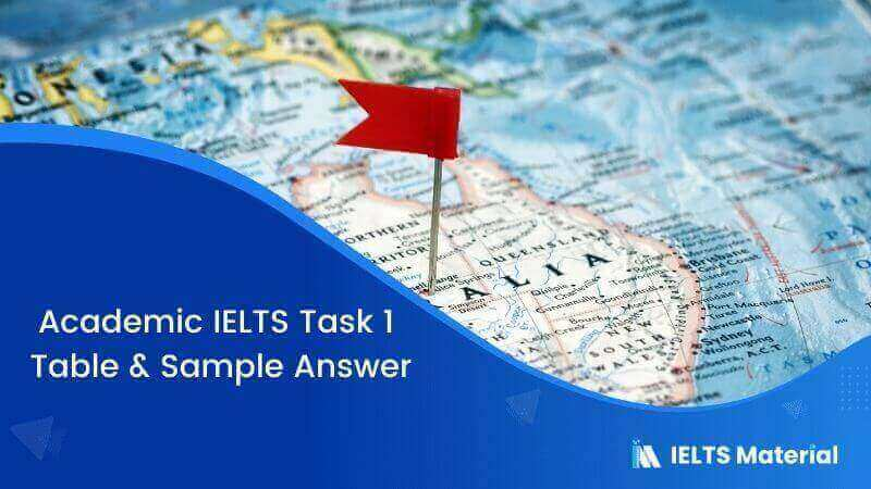 Academic IELTS Task 1 - Table & Sample Answer
