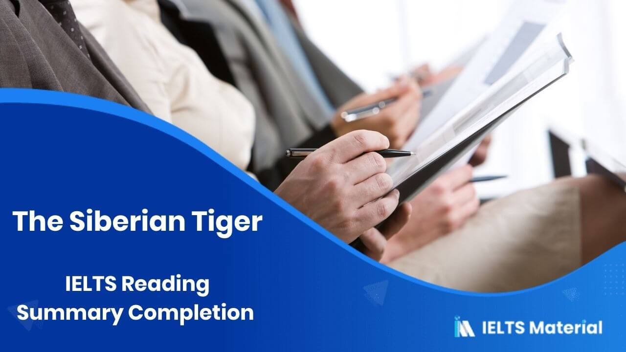 IELTS Reading Summary Completion Topic 1