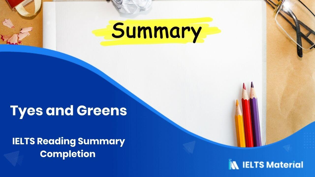 IELTS Reading Summary Completion Topic 3