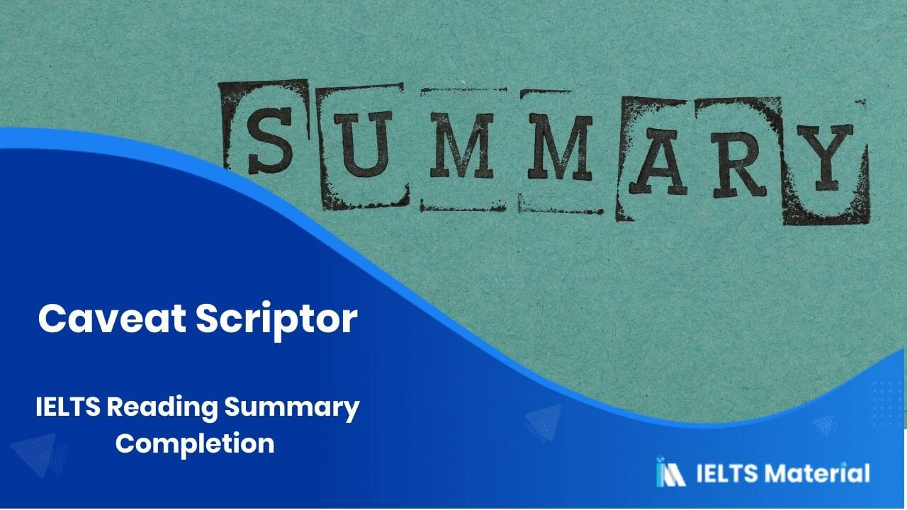 IELTS Reading Summary Completion Topic 4