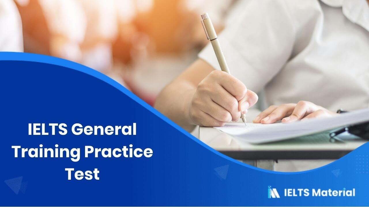 IELTS General Training Practice Test