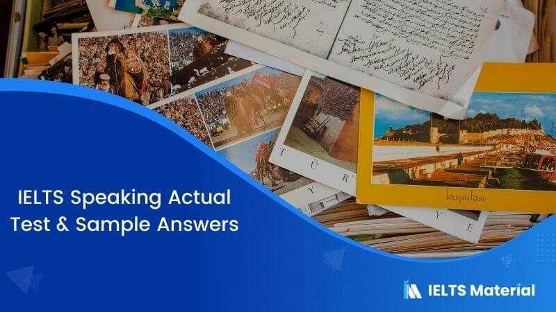 IELTS Speaking Actual Test in Australia - April 2017 & Sample Answers