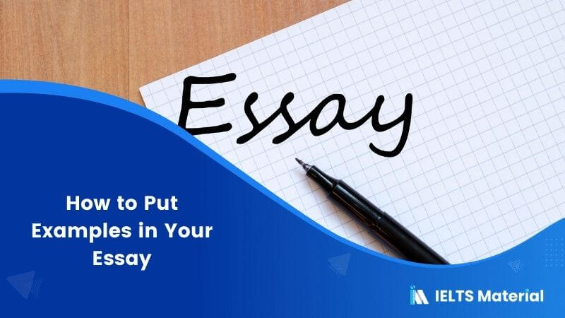 How to Put Examples in Your Essay