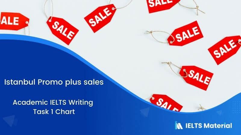 Academic IELTS Writing Task 1 Topic : Istanbul Promo plus sales – Chart