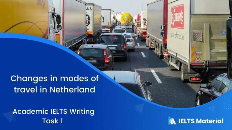 Academic IELTS Writing Task 1 Topic : changes in modes of travel in Netherland - Table