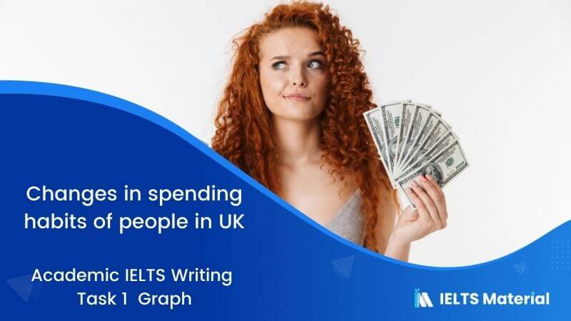 Academic IELTS Writing Task 1 Topic : changes in spending habits of people in UK - Graph