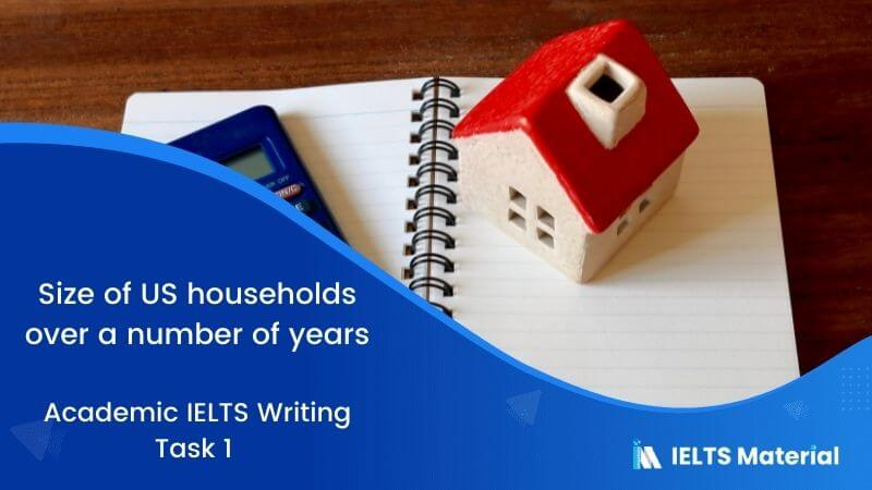 Academic IELTS Writing Task 1 Topic : size of US households over a number of years