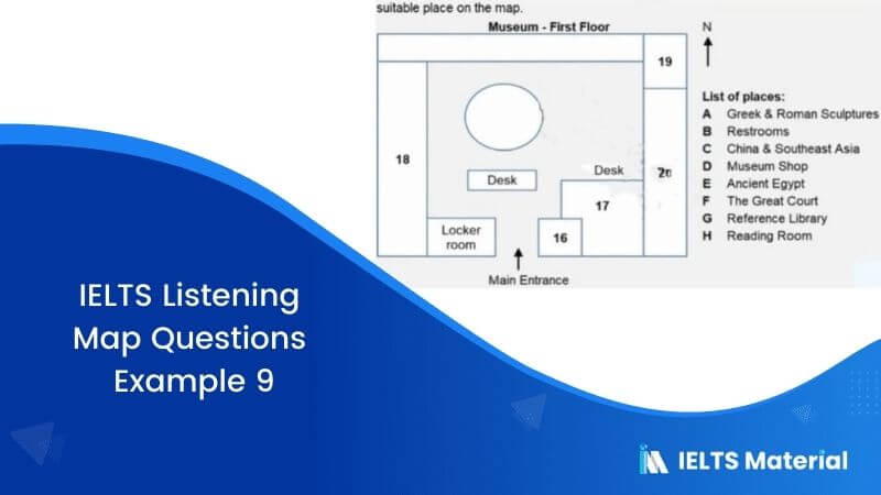 IELTS Listening Map Questions | Example 9