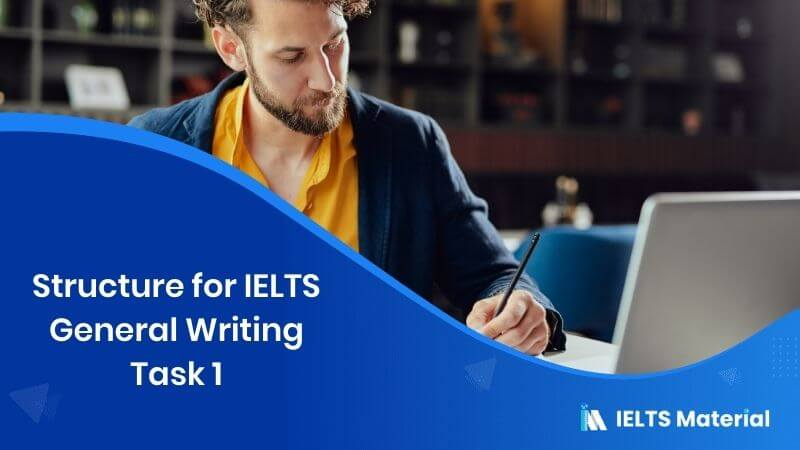Structure for IELTS General Writing Task 1