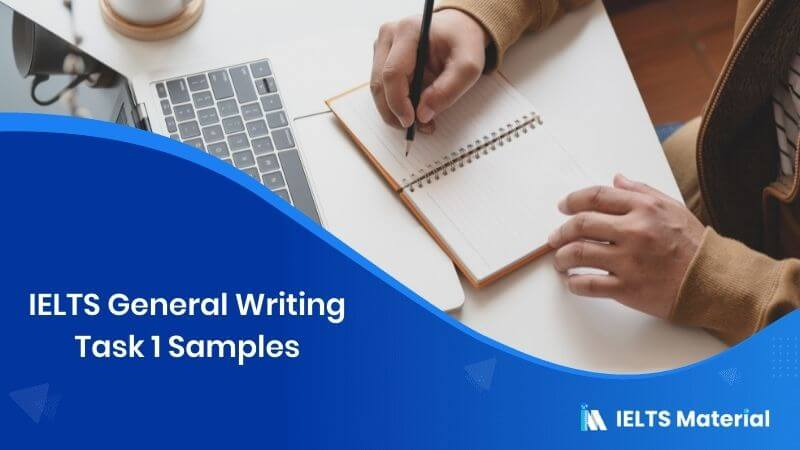 IELTS General Writing Task 1 Samples
