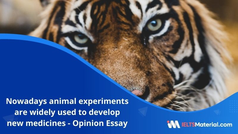 Nowadays Animal Experiments are Widely Used to Develop New Medicines – IELTS Writing Task 2